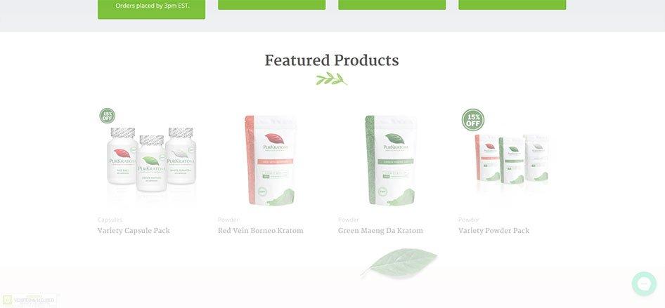 PurKratom Website Kratom Products
