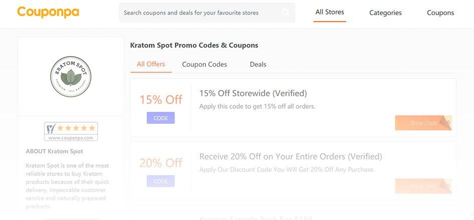 KratomSpot - Best Kratom Vendor with Coupon Codes