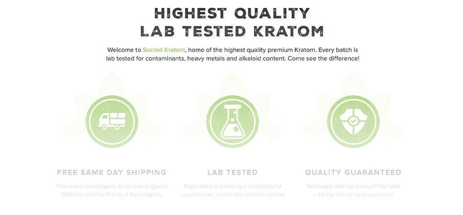 SacredKratom - Best Kratom Vendor with Coupon Codes