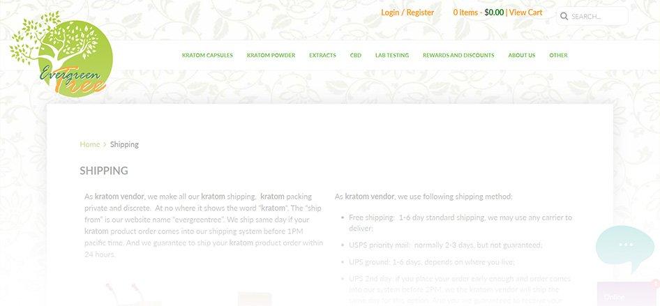 The Evergreen Tree - Best Kratom Vendor for Same-Day Shipping
